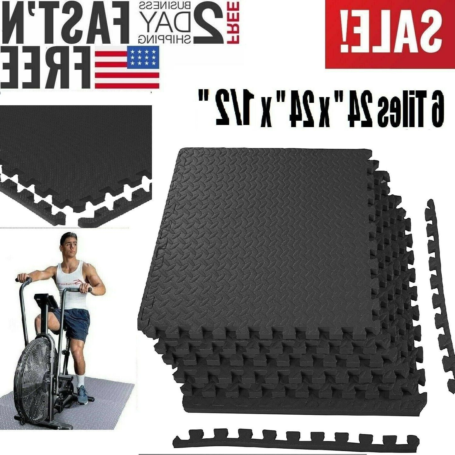 exercise floor mat fitness puzzle rug gym