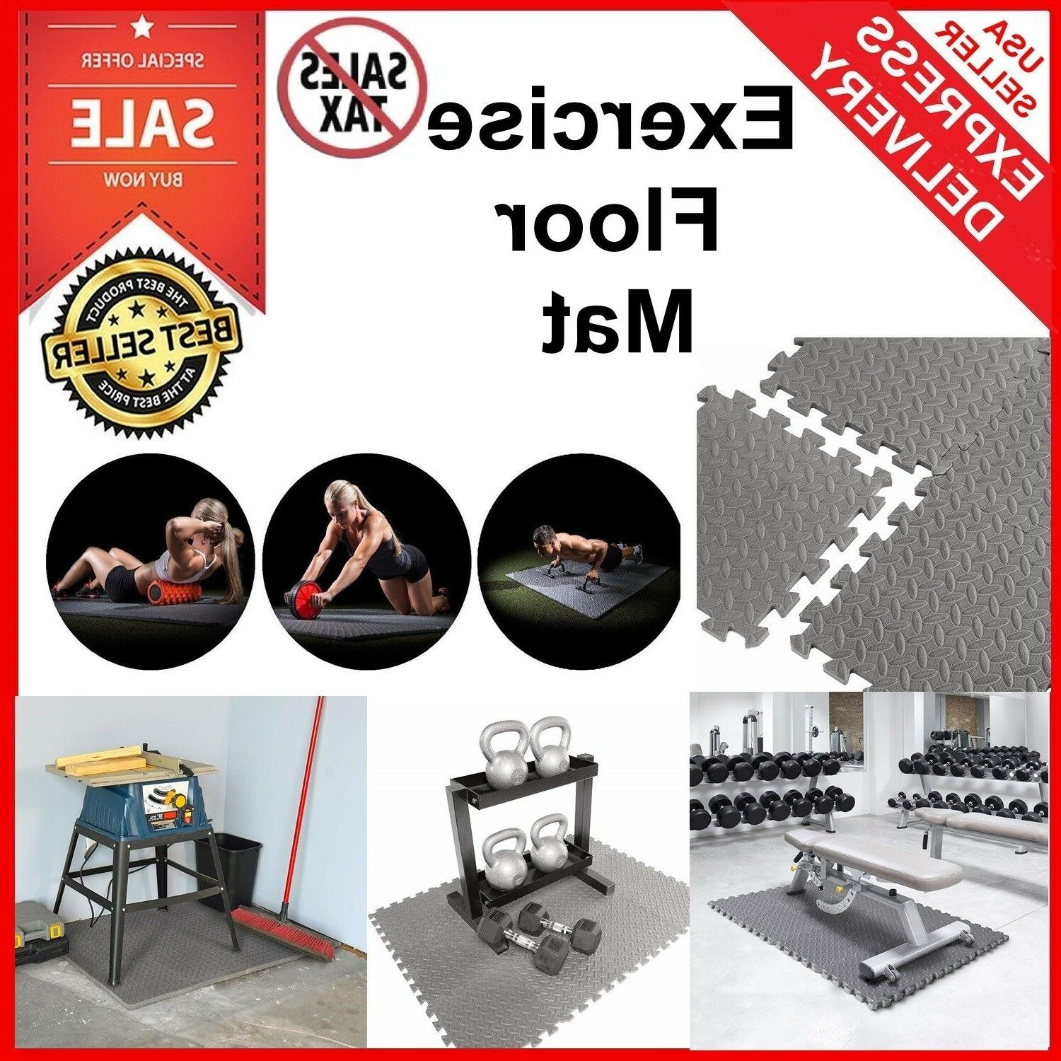 Exercise Floor Mat Fitness Puzzle Rug Gym 12SF Workout Equip