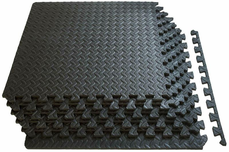 Exercise Floor Mat GYM FLOORING Tiles Protective Garage Home For