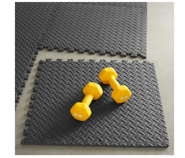Exercise Mat with Foam Interlocking Tiles Gym Fitness x 24""