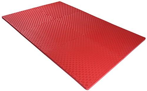 BalanceFrom Puzzle Exercise Mat EVA Foam Interlocking Tiles for MMA, and Gym Protective Flooring