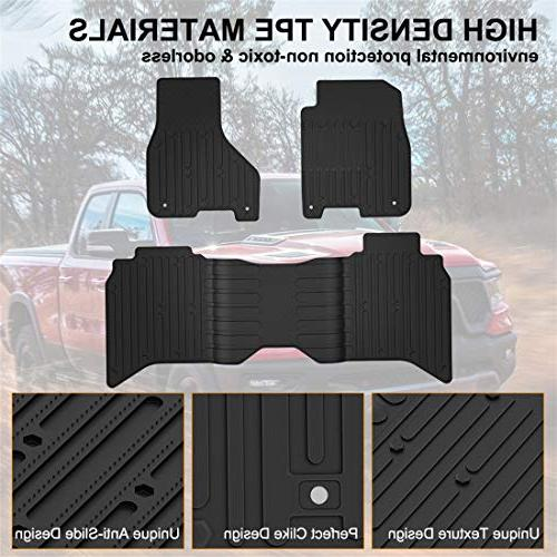 KIWI MASTER Floor Compatible for 1500-5500 Crew Cab All Weather Front & Floor Mat