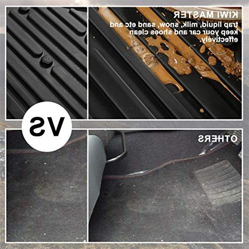 KIWI MASTER Floor Compatible for 1500-5500 2013-2017 All Weather Front Rear Floor Liners OEM Mat Set