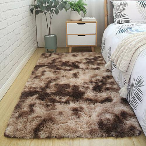 Fluffy Area Shaggy Tie-Dyed Carpet for Bedroom /Kids Room