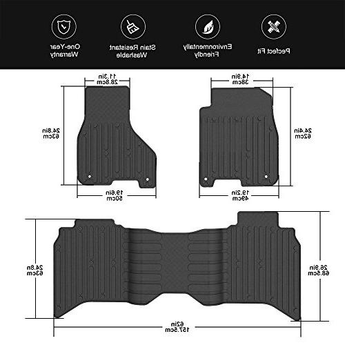 Black Slush for 2013-2017 Dodge Ram Weather Guard Carpet Set Dodge Ram 1500 2500 3500 Cabs Floor Liner Set