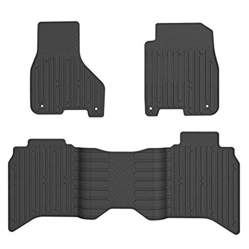WINUNITE & Black Slush for Dodge 1500 Crew Weather TPE Carpet Dodge 1500 3500 4500 5500 Crew Cabs Floor Liner