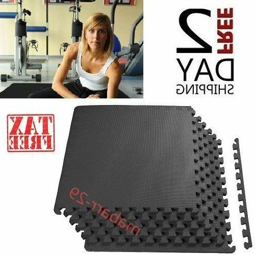 GETRUNG/'s Gym 6-Piece Puzzle Equipment Exercise Mat High Impact Workout NEW EVA