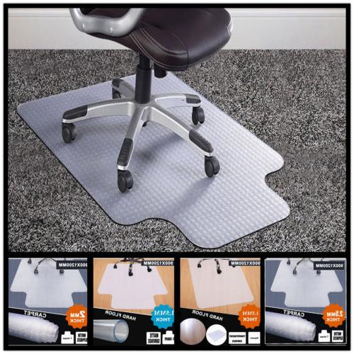 HEAVY OFFICE COMPUTER DESK CARPET/HARD WOOD FLOOR MAT