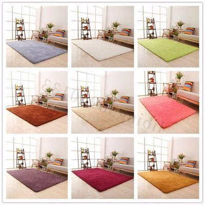 Home Fluffy Shaggy Rugs Anti-Skid Floor Mat Area Rug Dining