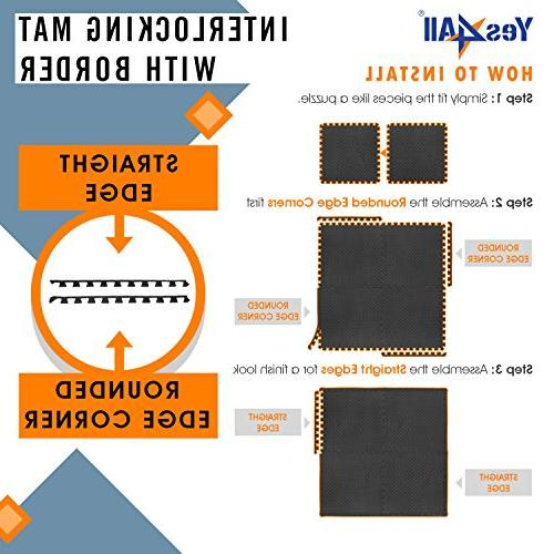 Yes4All Interlocking Exercise Mat Protector ²XPAJZ