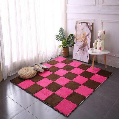 For Baby Velvet EVA Foam Floor Puzzle Play Crawling Carpet