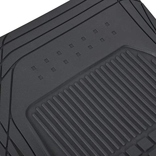 Motor Trend M190 Rubber Car Floor Mats-Classic Fit Feature, 100%