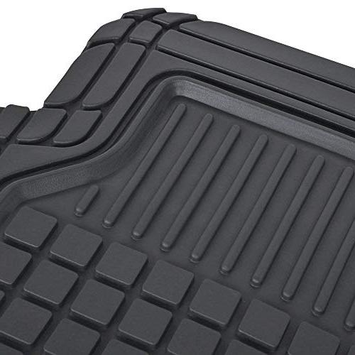 Motor Black Rubber Car Floor Square Fit 100%