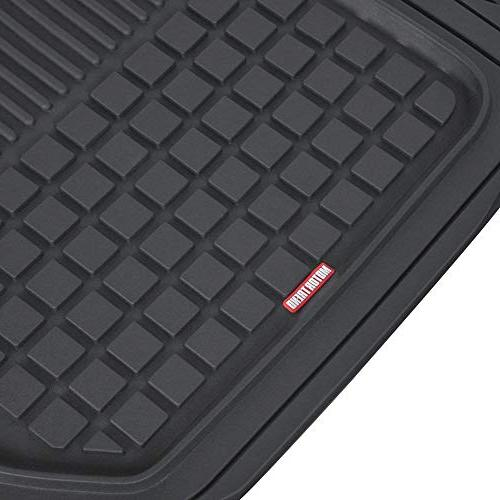 Motor Trend M190 Rubber Square Grid Channels-Trim Fit Feature, 100% Odorless