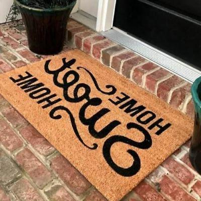 New Natural Coir Non Slip Home Sweet Home Floor Entrance Doo