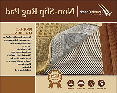 DoubleCheck Slip Rug Size 8' X 10' For Surface Floors Extra Grip Thick