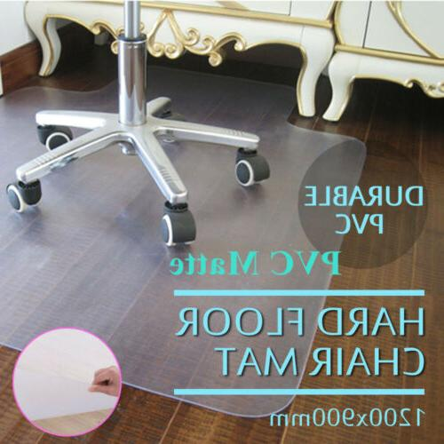 """SLYPNOS 48/"""" x 36/"""" Plastic Hard Floor Home Office Chair Mat Carpet Protector NEW"""