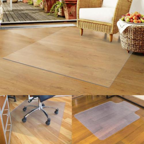 Clear Universal PVC Chair Mat Pile Carpet Hard Floor Compute
