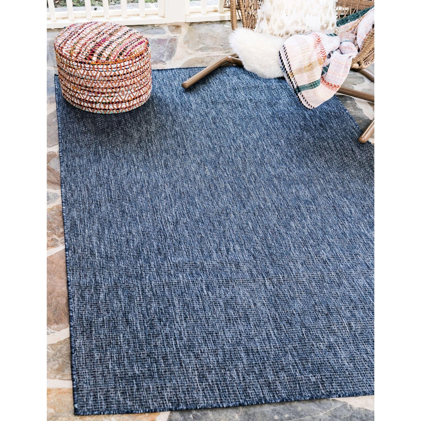 Outdoor Rug Blue Patio Living Room Bedroom Dining Accent Are