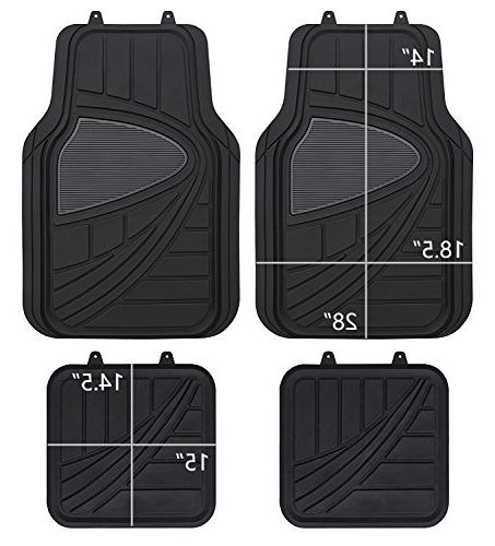 pic auto universal rubber floor mats