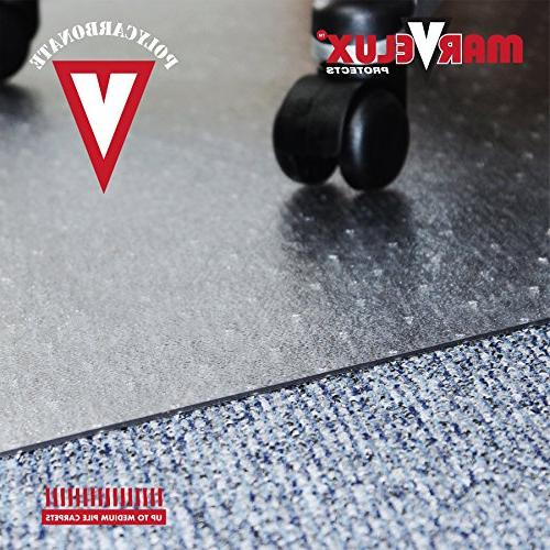 """Marvelux 30"""" x Polycarbonate Rectangular for and Medium Carpets 