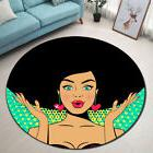 pretty african american girl floor round non