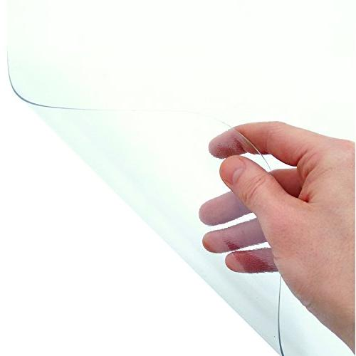Office Marshal PVC Chair Mat for Floors - | Multiple Sizes | Clear, Protector