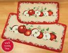 Red Apple Orchard Fruit Floral Kitchen Floor Runner Rugs Cus