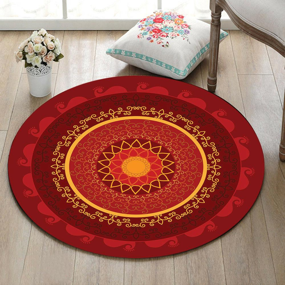 Round Floor Mat Area Rugs Bedroom Carpet Livingroom Velboa R