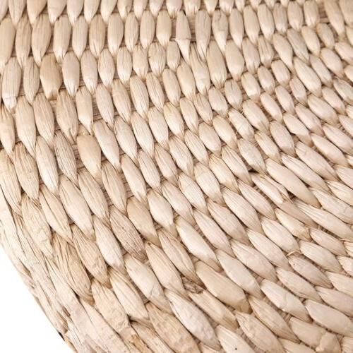 Round Straw Cushion Pouf Meditation Mat Pad