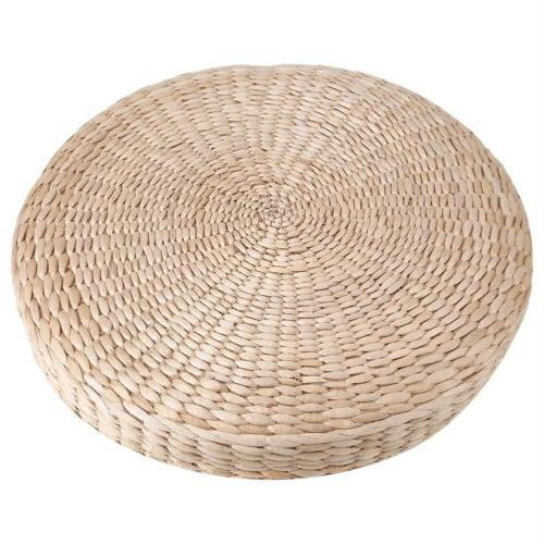 Round Straw Tatami Cushion Floor Patio Pouf Seat Mat Pad