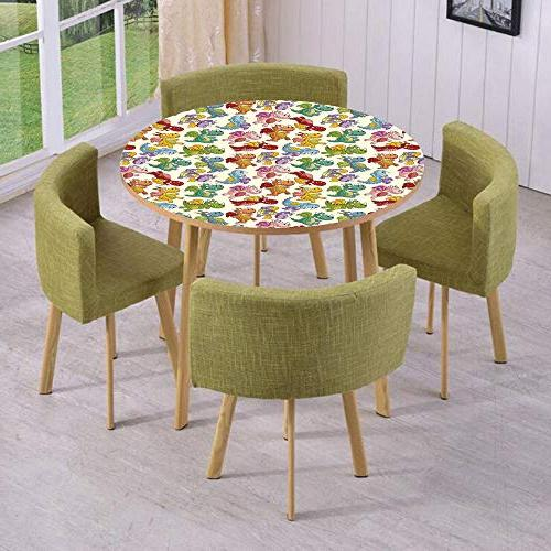 round table wall floor decal