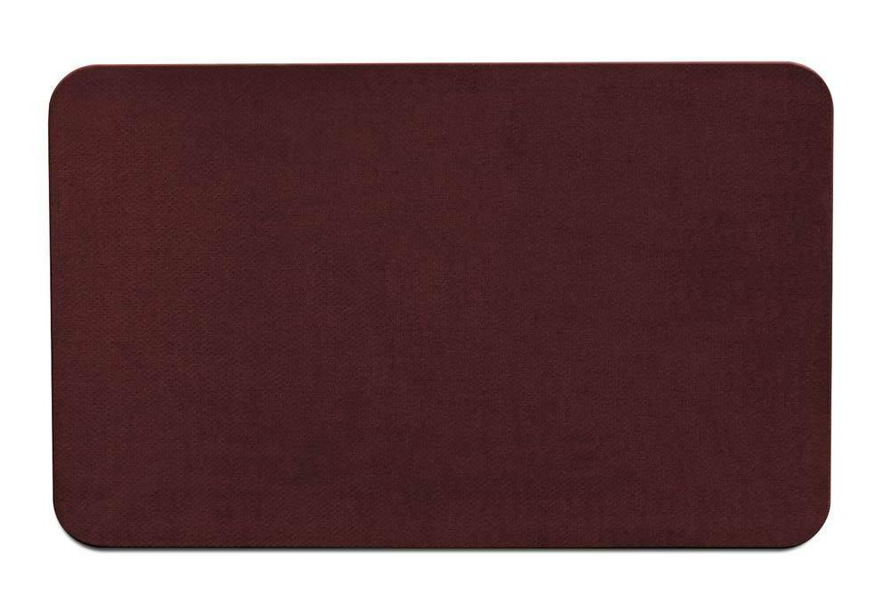 Skid-Resistant Area Rug/Floor Mat - Burgundy Red - 6 Ft. x 8
