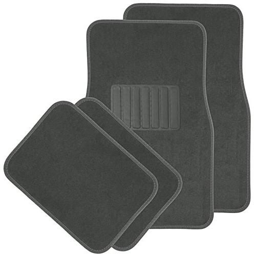 solid charcoal floor mats