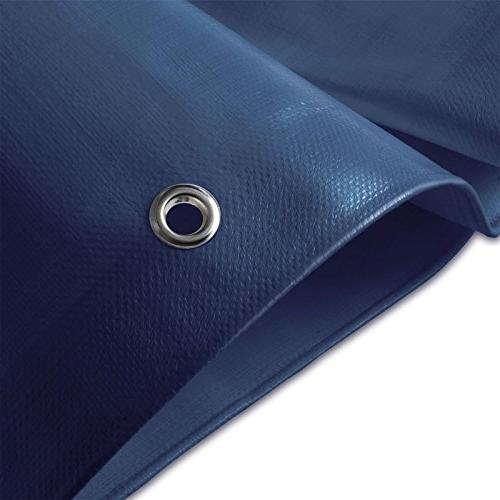 Tarps Duty | Ground Tent Cover Large in Multiple 6 oz/Sq Yd Blue - x 14'