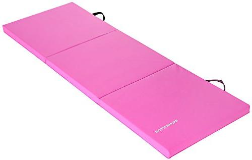 """BalanceFrom 2"""" Thick Tri-Fold Folding Exercise with Carrying Gymnastics Protective Flooring"""