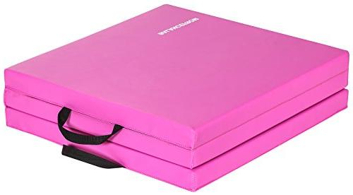 BalanceFrom Folding Exercise Mat Carrying Handles Gymnastics Home Gym Protective Flooring