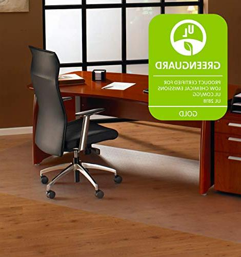 """Cleartex Office Mat, for Floors, Strong Square, 60"""" x"""