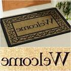Welcome Door Area Rug Mat Non-Slip Doormat Floor Out / Insid