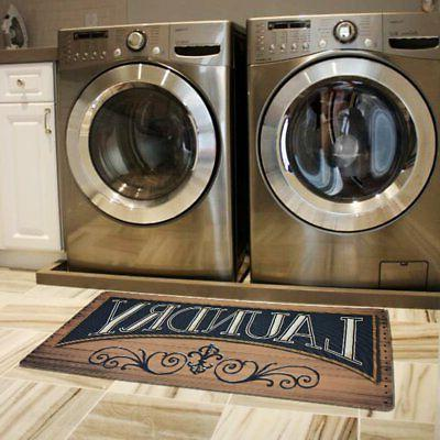 wood print floor rug for laundry room