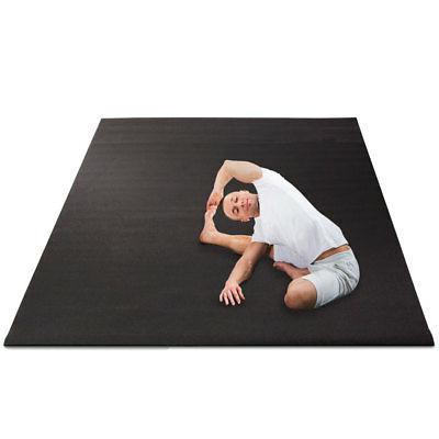 Yoga Floor Mat, 8' wide by 6' long, 6 mm thick, Black