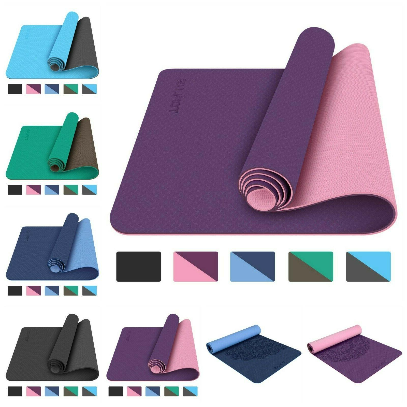 Yoga Mat Non Slip Exercise Workout Floor Exercise Mats With