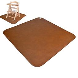 Linkidea Leather Baby Splat Mat for Under High Chair Floor P