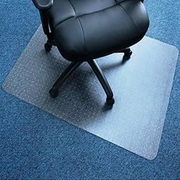 Marvelux Vinyl  Office Chair Mat for Very Low Pile Carpeted