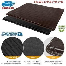 Modern Indoor Cushion Kitchen Rug Anti-Fatigue Floor Mat - A