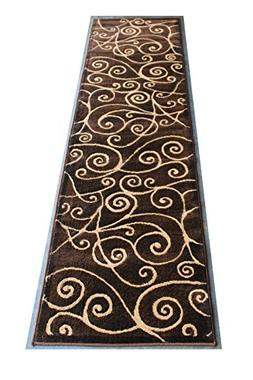 Modern Rug Runner 2 Ft. X 7 Ft. Chocolate # G 23