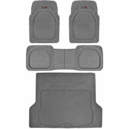 Motor Trend DeepDish Car Floor Mats 3 Piece with Cargo Trunk