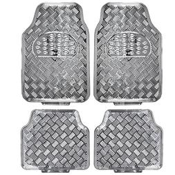 BDK MT-641-SL Universal Fit 4-Piece Set Metallic Design Car