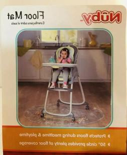 """NEW Nuby Mat for Baby Under High Chair Protects Floor 50"""""""