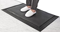 Nonslip Replacement Floor Mat for an Alarm System, Black